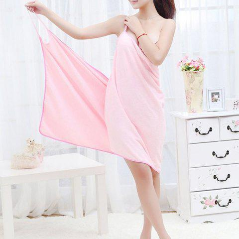Shop Fast Drying Wearable Magic Bath Skirt Towel PINK
