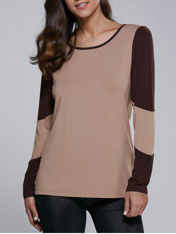 Outfits Long Sleeve Contrast Trim T-Shirt