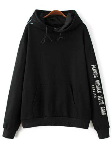Fashion Front Pocket Embroidered Hoodie