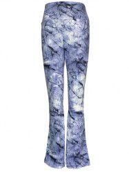 High Waist Ink Painting Slimming Pants