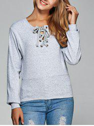 Long Sleeve Lace Up Tee