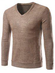 V-Neck Long Sleeve Knitting Sweater