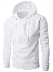 Hooded Double Zipper Design Hoodie -