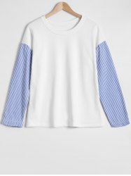 Spliced Stripe Sweatshirt -