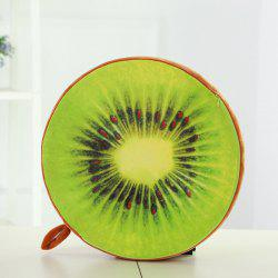 High Simulation Plush Kiwi Fruit Shape Seat Cushion Pillow - GREEN