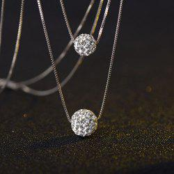 Simple Rhinestone Ball Necklace -