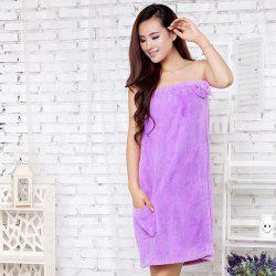 Fiber Bowknot Tube Top Bath Skirt Towel -