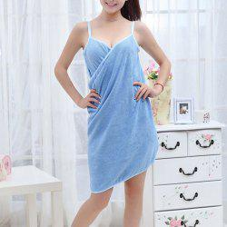 Fast Drying Wearable Magic Bath Skirt Towel - BLUE