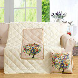 Dual Purpose Colorful Tree Cushion Pillow or Nap Quilt -