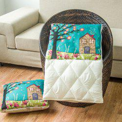 Two Uses Cartoon Office Cushion Pillow or Nap Quilt