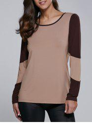 Long Sleeve Contrast Trim T-Shirt -