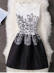 Floral Sleeveless A-Line Party Short Skater Dress -