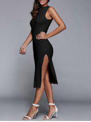 Sleeveless Back Cutout Side Slit Bodycon Party Dress