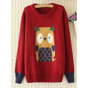 Cartoon Jacquard Knit Sweater