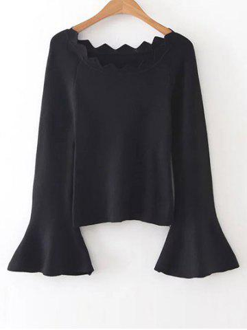 Unique Bell Sleeves Knit Jumper