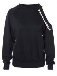 Cut Out Beading Sweatshirt -