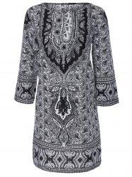 Paisley Print Shift Dress -