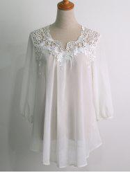 Crochet Yoke Flowy Peasant Top