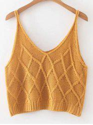 Knitted Checked Tank Top -
