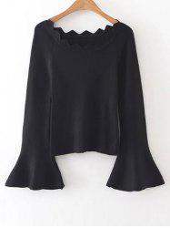 Bell Sleeves Knit Jumper -