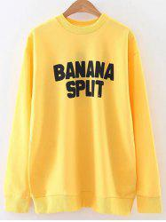 Oversized Banana Split Sweatshirt -