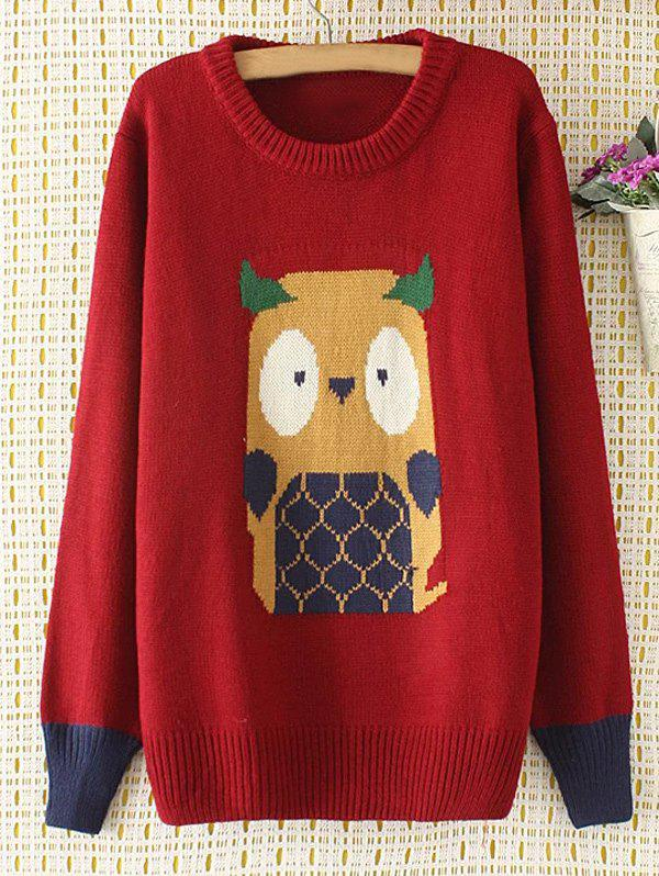 Sale Cartoon Jacquard Knit Sweater