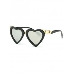 Cool Heart Shape Mirrored Beach Sunglasses