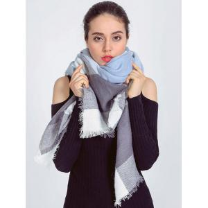 Autumn Plaid Pattern Fringed Edge Wrap Scarf