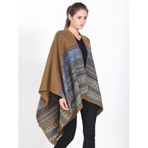 Streetwear Geometry Thicken Wrap Shawl Cape Pashmina