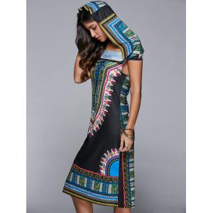 Printed Hooded Midi African Style Print Dresses
