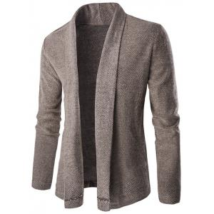 Shawl Collar Long Drape Cardigan
