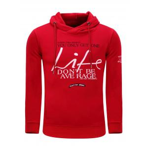 Hooded Graphic Printed Thicken Fleece Hoodie