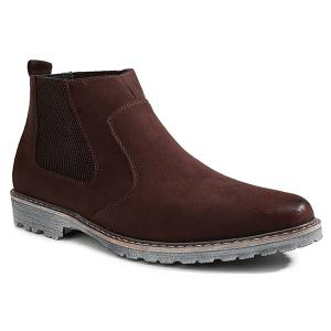 Vintage Slip-On Suede Ankle Boots - Brown - 43