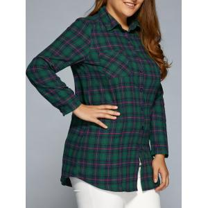 Plus Size Thick Plaid Flannel Shirt