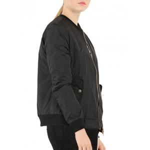 Zip Up Stand Collar Pilot Jacket