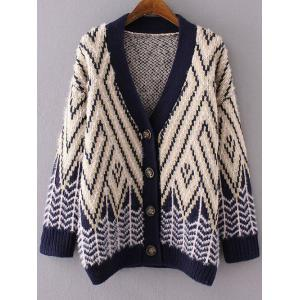 Striped Fluffy Open Cardigan