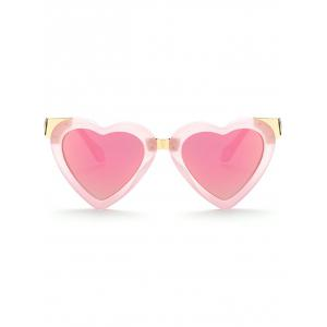 Cool Heart Shape Mirrored Beach Sunglasses -