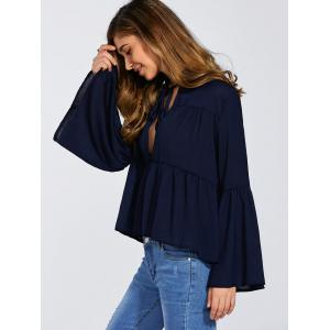 Bell Sleeve Low Cut Top -