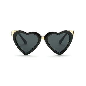 Cool Metal Match Heart Shape Sunglasses -