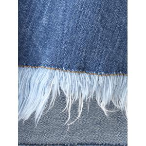Frayed Fringed Furcal Denim Shorts -