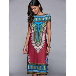 Hooded Tribal Print Dress -