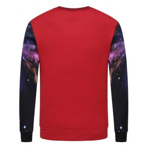 Crew Neck Graphic Print Galaxy Sweatshirt -