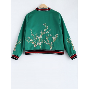 Dragon Flower Embroidery Souvenir Jacket -