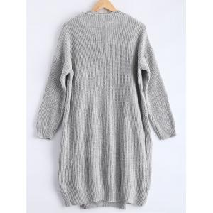 Ribbed Knitted Dress + Loose-Fitting Cardigan Twinset -