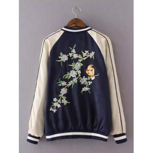 Embroidered Varsity Souvenir Jacket -