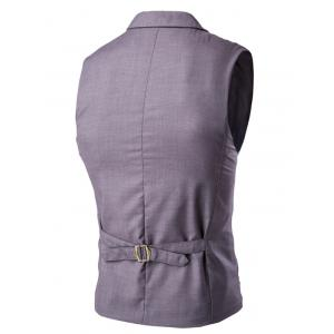 Lapel Collar Double Breasted Waistcoat -