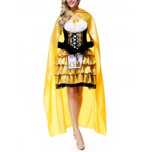 Halloween Fairy Tales Goldilocks Dress Costumes With Cloak -