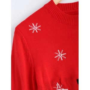 Christmas Snowman Pattern Pullover Sweater -
