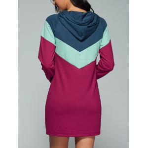 Geometric Splicing Long Sleeve Dress - COLORMIX XL