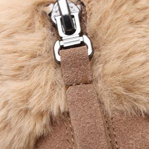 Flat Heel Faux Fur Zipper Snow Boots -